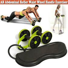 Ab Abdominal Exerciser Roller Waist Wheel Handle Slimming Trainer Core Fitness U