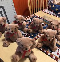 Vintage Jointed Teddy Bear Lot Of 7 Fully Possible Bears Brown Colors ,