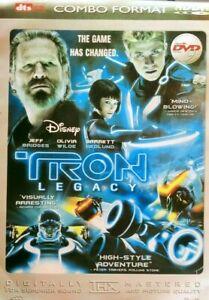 TRON LEGACY DVD JEFF BRIDGES REGIONS ALL 2010