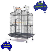 Large Parrot Aviary Bird Cage Open Dome Roof Wrought Iron Anti Rust Door 183cm