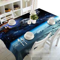 3D Planet Blue 024 Tablecloth Table Cover Cloth Birthday Party Event AJ Lemon