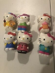 Lot Of 6 Hello KITTY MCDONALD'S  2013 2014 2015  2016 Happy Meal Toys