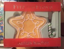 Fitz and Floyd Santa's Kitchen Snack Plate and Spreader 2005 Nib