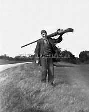 ANTIQUE REPRODUCTION HUGE PUNT GUN DUCK GOOSE HUNTING  8X10 PHOTOGRAPH # 8