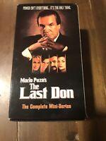 Mario Puzo's THE LAST DON Danny Aiello VHS 3 Tape Set Complete Mini Series