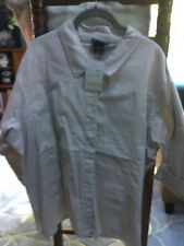 NWT Las Olas 100% Cotton  Jacket /Top Taupe Plus 3X 3/4 Sleeve