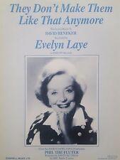Evelyn Laye: no hacerlos así más (partituras) Buenas Condiciones