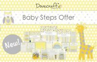 *OFFER* Dovecraft Baby Steps Card Craft Collection - Birthday/Shower/Christening