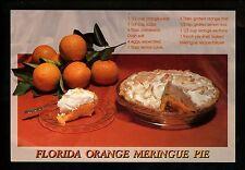 Recipe postcard US Florida Orange Meringue Pie Florida FL