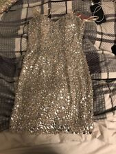 SHORT SILVER JOVANI PROM DRESS SIZE 4