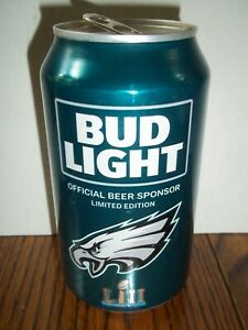 2018 Collectible Philadelphia Eagles Bud Light Can Super Bowl LII PHILLY PHILLY
