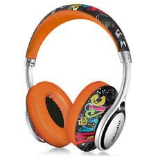 BluedioA2-Air Wireless Bluetooth 4.2 Headphone Stereo OverEar Headset Mic,Doodle