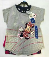 NEW Disney Minnie Mouse Girls' 3-Piece Tee, Shorts & Leggings Set