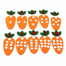 Cloth Carrot Kids Math Number Counting Toy 1-10 Mathematic Preschool Learning Ql