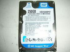 "WD Scorpio Blue 250gb WD2500BPVT-22ZEST0 2061-771672-R04 04RD7 2,5"" SATA"