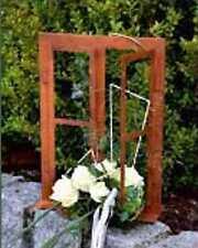 DEWOGA Deko-Fenster auf Platte 33 x 45 cm zum Öffnen, Edelrost Rost Gartendeko