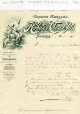 Dépt 59 - Tourcoing - Très Belle Entête Secteur Filature de la Laine  09/08/1902