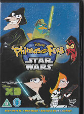 PHINEAS AND FERB STAR WARS DVD INCLUDES 5 EXTRA EPISODES KIDS