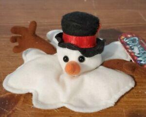TOY: MEANIE BEANIE BABY: SHOCKING STUFFER: SLUSHY THE SNOWMAN, w/tag