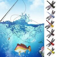Popper Fishing Bait Lure Life-like Dragonfly Floating Fly Fishing Flies US