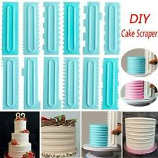 Cake Scraper Pastry Cake Decorating Comb Icing Smoother Baking Kitchen Tool