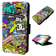 Stickerbomb Stickers - Flip Phone Case Wallet Cover - Fits Iphones & Samsung