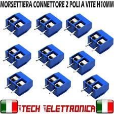 10 pezzi Morsettiera 2 Poli a vite PCB 5,08mm altezza 10MM connettore Arduino