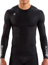 Skins DNAmic Team Mens Compression Long Sleeve Training Top - Black