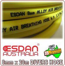 Divers Air breathing diving Hookah hose 8mm x 20m coil Australian dive ESDAN
