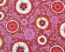 By 1/2 Yard Folk Song Fortune in Zinnia ~ Anna Maria Horner Free Spirit Fabric