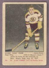 1951 52 PARKHURST HOCKEY #24 DUNC FISHER VG-EX BOSTON BRUINS CARD