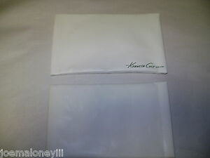 KENNETH COLE NY WHITE LEATHER SUNGLASS POUCH JEWELRY POUCH CASE
