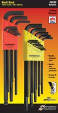 22pc Bondhus Extra-Long Arm BallDriver® USA Hex Ball End L-Wrench Set #20699