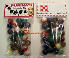 2 Bags Of Purina'S Baby Pig Chow Advertising Promo Marbles