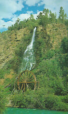 Waterfalls and Water Wheel  Idaho Springs  Colorado  Chrome Postcard 32013