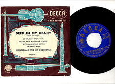 """CLASSICAL"".MANTOVANI.DEEP IN MY HEART.UK ORIG (1957) 7"" EP & PIC/SL.EX-/EX"