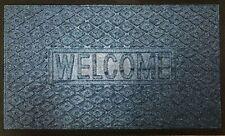 Door WELCOME Entrance Mats Carpet top Rubber Bottom VARIOUS COLOURS UK STOCK
