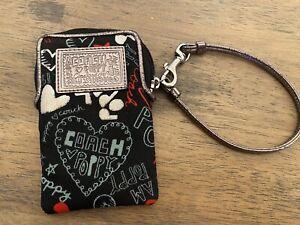 Coach Purse clutch- Graffiti black red white silver - Genuine Authentic