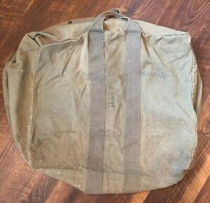 USAF Flyer's Kit Flight Cotton Duck Canvas Pilot Parachute Bag US MILITARY FAIR