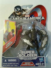 "MARVEL CAPTAIN AMERICA WINTER SOLDIER SUPER SOLDIER GEAR 4"" ACTION FIGURE NIP"