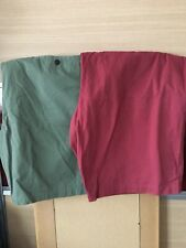 2 X MENS M&S SHORTS W50 RRP £25 Each PURE COTTON CHINOS