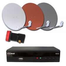 1 Participant HDTV Satellite System 60cm Dish LNB 1 x Comag HD 15 Receiver Used