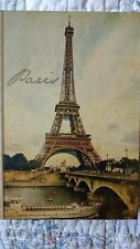 NEW Paris style blank journal/diary.EARTHY COLORS SAME FRONT AS THE BACK