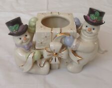 Lenox The Snowman Votive 2 Snowman Around a Candle Holder No Box