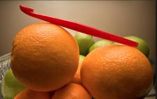 4x Tupperware Citrus Peelers~Peel Oranges~Scrape Pans~Coral~(Red /Org Color) New