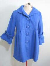 "Womens Electric Blue Long ""NWT"" COAT Sz 14 JACKET Bell Sleeves rrp$79.95 Ladies"