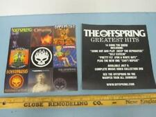 THE OFFSPRING 2005 greatest hits promotional 9 sticker card New Old Stock