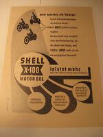 Motorrad Originalwerbung 1950.Jahre:Shell X-100-Oldimer advertising