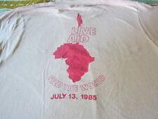 RARE VINTAGE LIVE AID TEE SHIRT 1985 QUEEN SCREEN STARS SHIRT LARGE