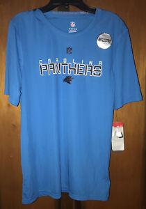 Nwt NFL Boys Carolina Panthers S/S Blue Reflective Tshirt. Sz X-large (18).